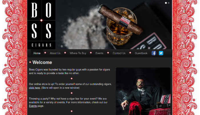 Boss Cigars Website